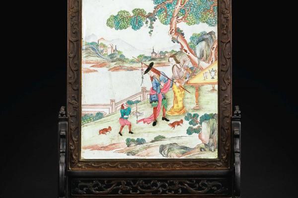 écran de table Chine Dynastie Qing 2