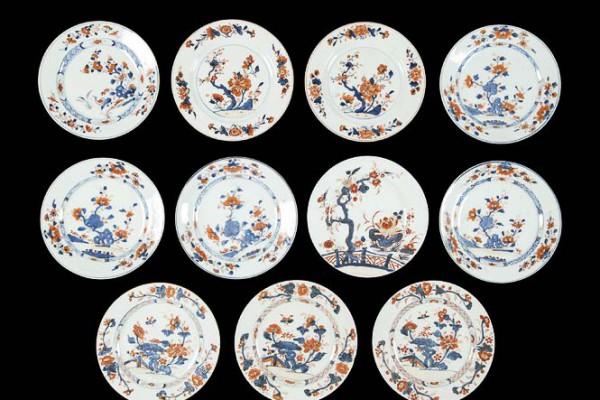 Assiettes Compagnie des Indes   XVIIIème siècle