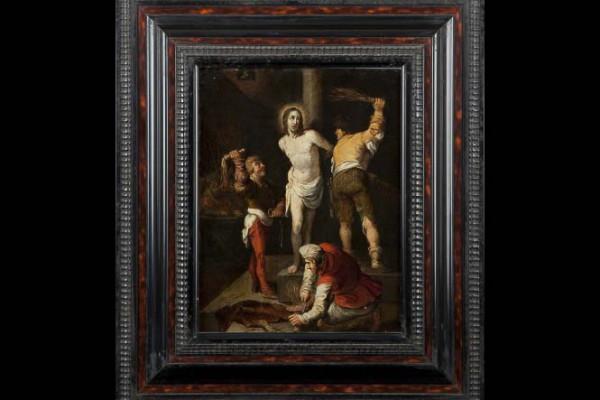 Attribué à   Simon De vos Flagellation du christ