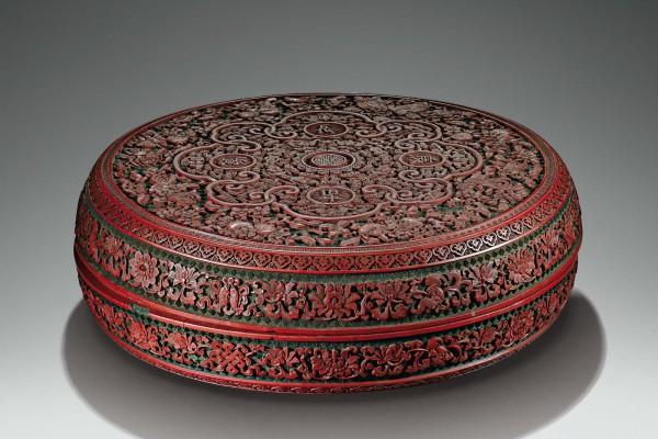Boîte en laque Dynastie Qing