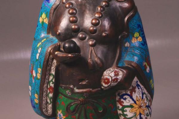 Bouddha en bronze cloisonné Epoque XIXème siècle