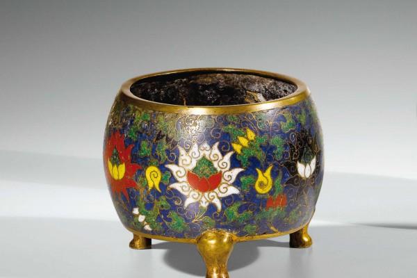 Brûle Parfum en bronze doré Chine Dynastie Ming