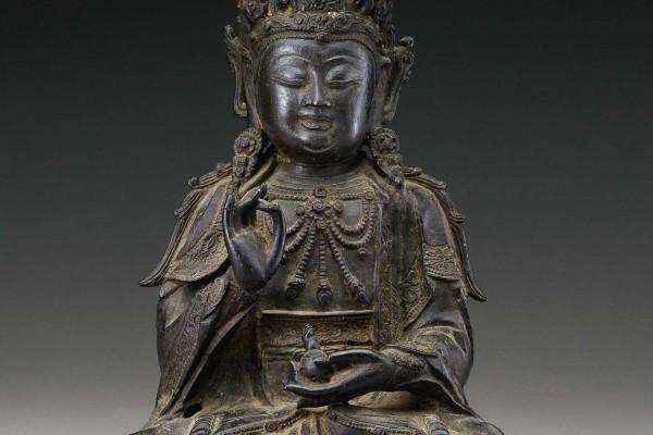 Bronze Bodhisattva Dynastie Ming