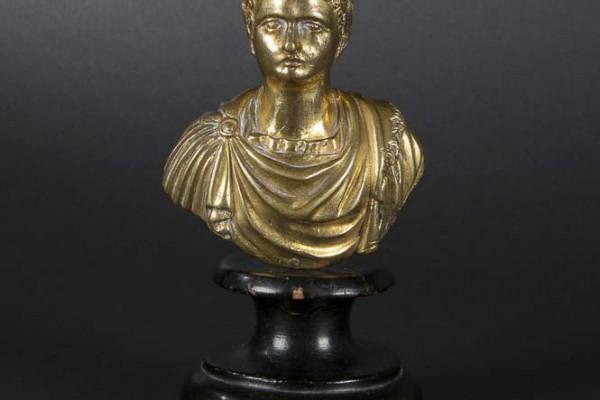 Buste d'empereur  Bronze doré  XVIIIème siècle