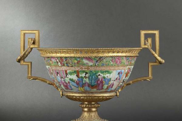 Coupe porcelaine Canton  Epoque Napoléon III