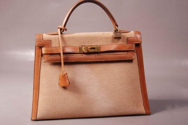 Hermès Sac Kelly Toile et Cuir