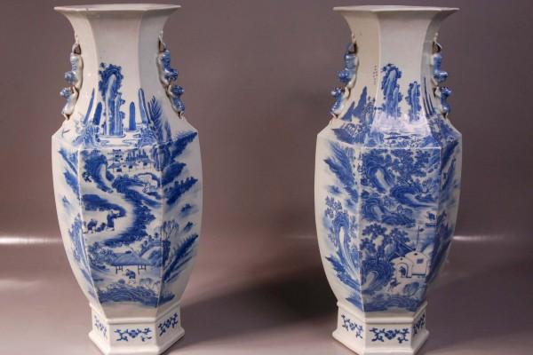 Paire de vases  Chine Dynastie Qing