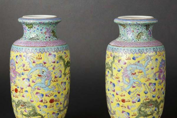 Paire de vases Chine  Période république