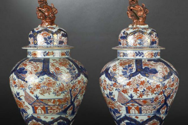 Paire de vases porcelaine Imari