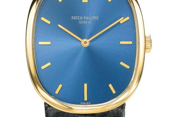 Patek Philippe fond bleu en or_
