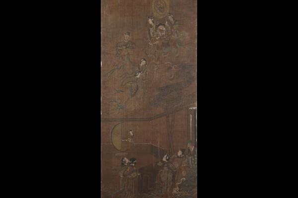 Peinture sur tissu    Cérémonie du Thé  Chine  Dynastie Qing