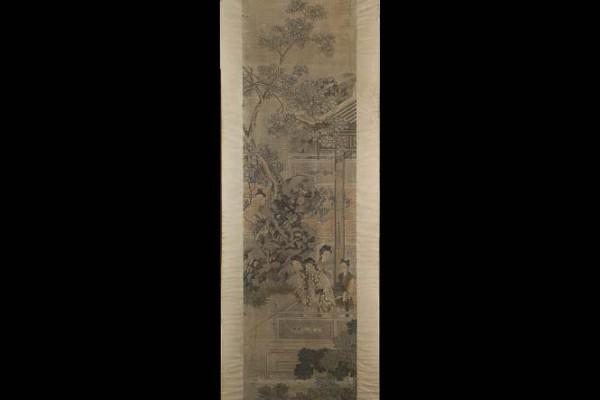 Peinture sur tissu Chine Dynastie Qing