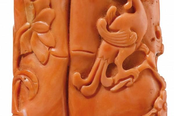 Pendentif en Corail Chine Dynastie Qing