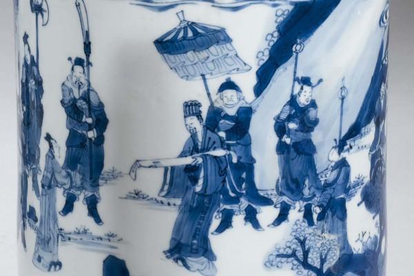 Pot à pinceaux en porcelaine Chine époque Kangxi