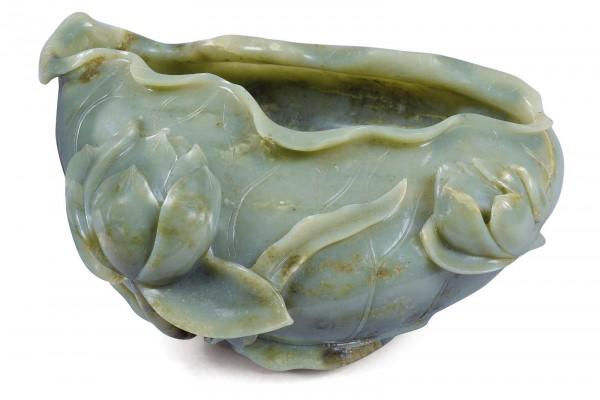Rince-pinceau en jade Chine Dynastie Qing