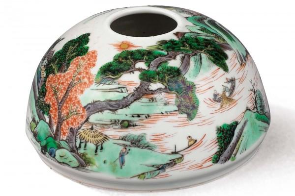Rince-pinceau en porcelaine  Chine  Dynastie Qing