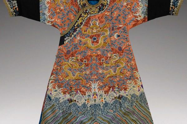 Robe en soie Chine Dynastie Qing 2