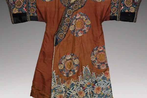 Robe en soie Chine Dynastie Qing