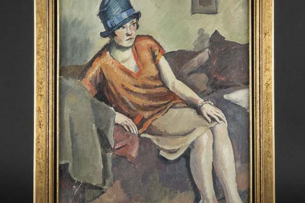Rodo-Pissaro Femme au chapeau