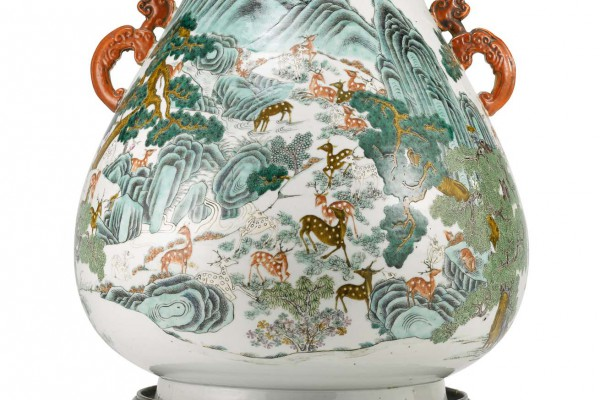 Vase Chine Cent Daims Dynastie Qing