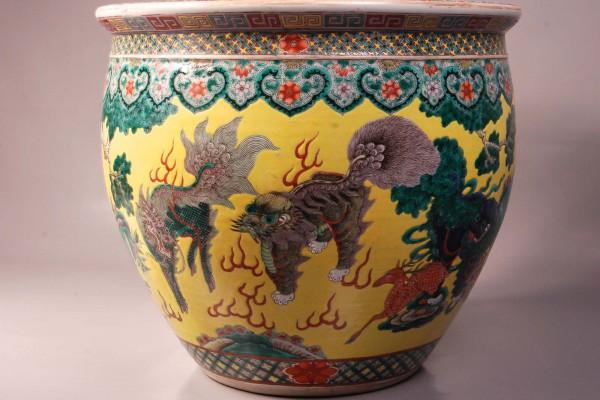 Vasque à poissons  Dynastie Qing