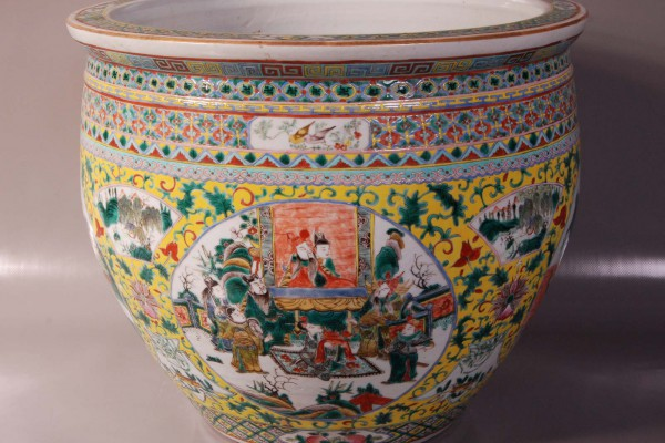 Vasque porcelaine   Dynastie Qing