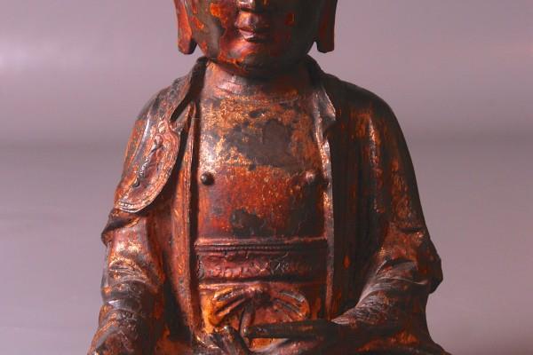 Bhaisajyaguru Bronze laque  Chine   XVI°  Dynastie Ming