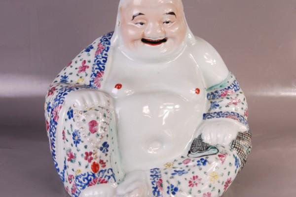 Bouddha en porcelaine CHINE          XX° siècle