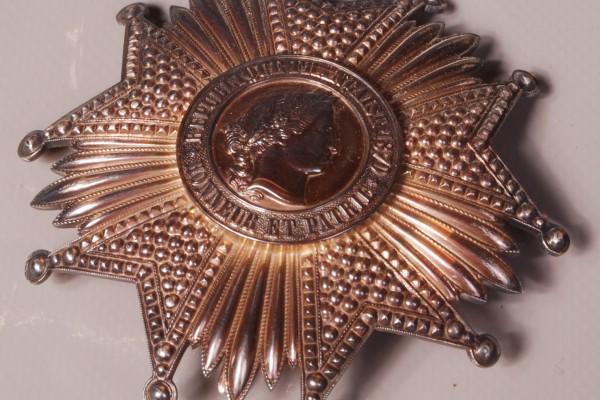 Décoration grande croix en argent massif   Epoque XIX° siècle