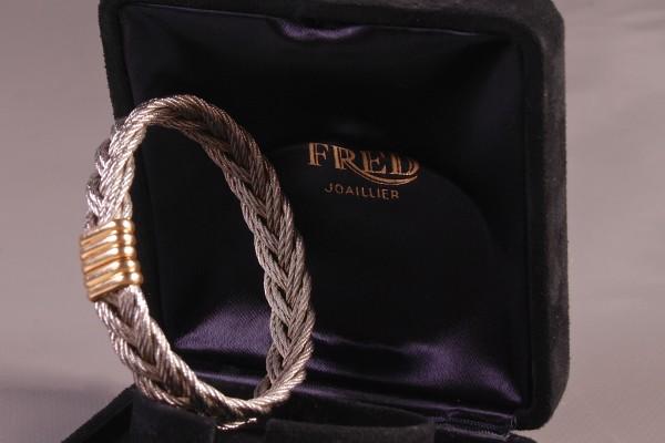 FRED  Bracelet acier et or