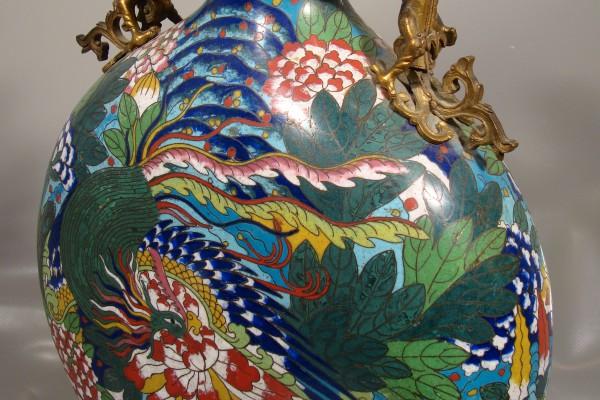 Gourde en bronze cloisonné  CHINE  Dynastie Qing