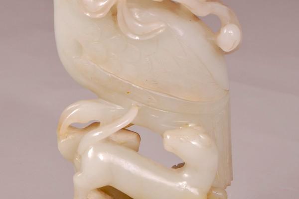 Groupe en jade  Phoenix  CHINE  Dynastie Qing