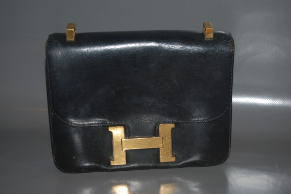 HERMES  Sac Constance  Box noir