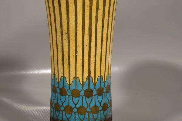 PRIMAVERA  vase en bonze cloisonné  XX° siècle