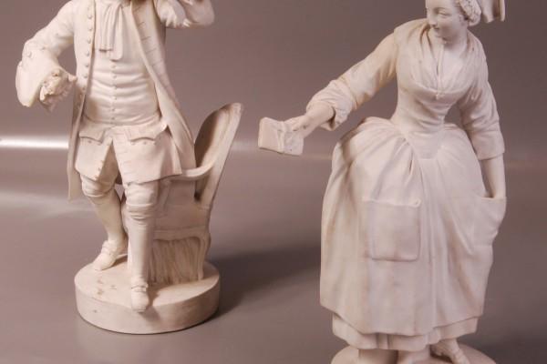 Paire de sujets en biscuit   Sèvres  Epoque Louis XVI           XVIII° siècle