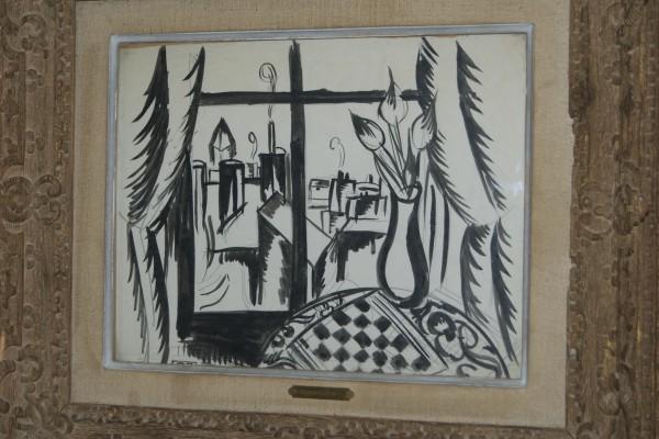 Raoul DUFY Vue fenêtre Encre de Chine