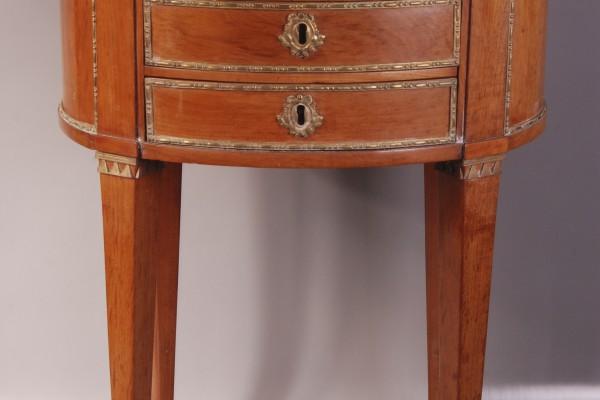 Table tambour en acajou   Epoque Louis XVI            XVIII° siècle