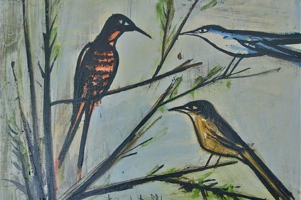 Bernard BUFFET       Les oiseaux