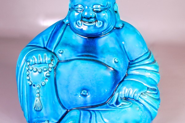 Bouddha en porcelaine   Chine      Période république    XX° siècle