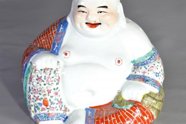 Bouddha en porcelaine   Chine          XX° siècle    Période république