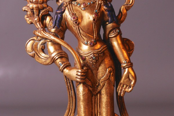 Bronze doré  Tibet XIX°-XX°
