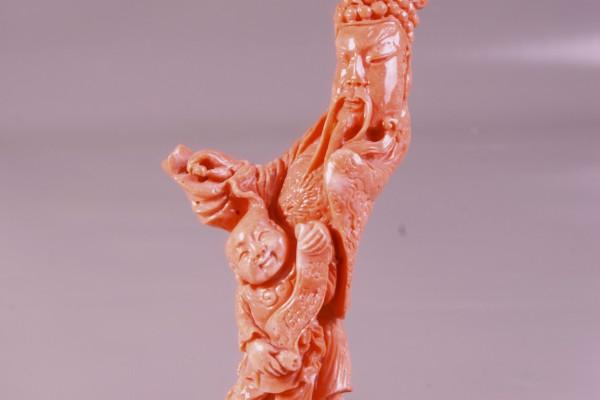 CORAIL sculpté  CHINE XX° siècle
