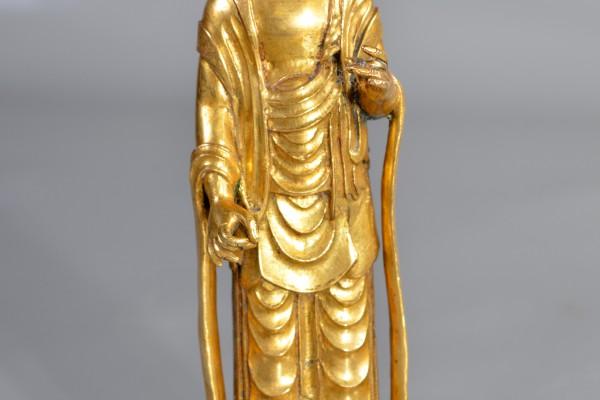 Cuivre doré de divinité     Népal:Tibet XX° siècle