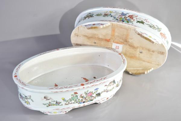 Paire de jardinière en porcelaine    CHINE