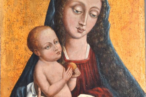Vierge à l'enfant Huile:panneau