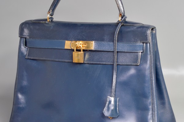 HERMES  Kelly Box Bleu